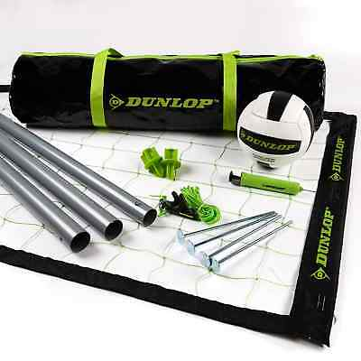 Dunlop Professional Volleyball Set - Quick and Easy Set Up with 32 x 3 ft Net