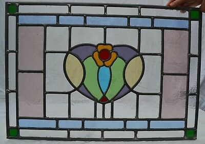 NEW leaded light stained glass window panel 48 x 68.5cm. Shipping insured. R704a