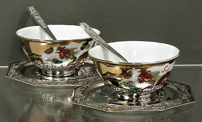 """Chinese Export Silver Tea Set   (2)  Signed Tanvinh      """"LAST SET IN COLLCTION"""""""