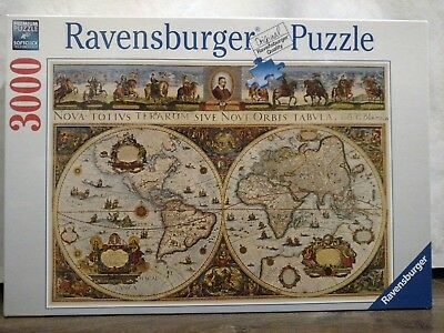 Ravensburger antique world map 1665 jigsaw puzzle 3000 pieces new ravensburger antique world map 1665 jigsaw puzzle 3000 pieces new sealed 170548 gumiabroncs Images