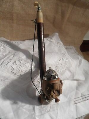 vintage german bavaria wood pipe black forest tyrol