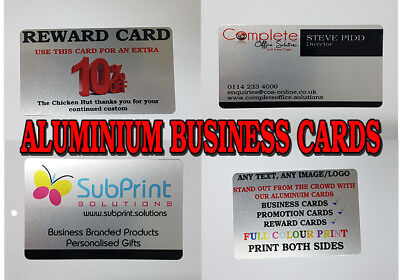 Aluminium Metal Business Cards,Promotional,Reward,Loyalty,ID Card,Any Logo,Text
