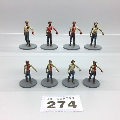Guillotine Games Zombicide Painted Zombies Male Walkers Walking Dead X 8