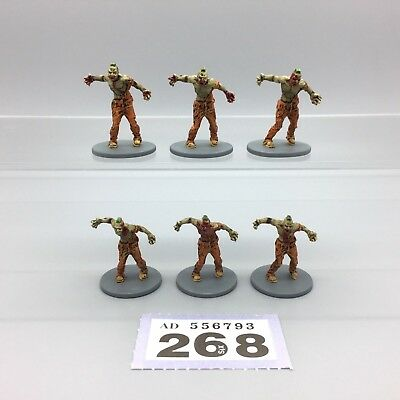 Guillotine Games Zombicide Painted Zombies Male Walkers Walking Dead X 6