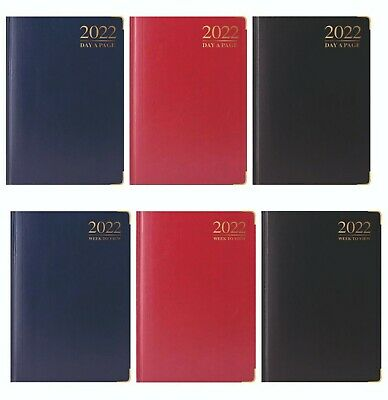 2019 Diary A4/A5 Day to Page or Week to View Desk Diary Premium Padded