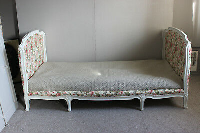 French day  bed with new  uphplstery fabric  Artur Sanderson - Little Chelsea