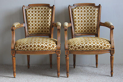 Two French bedroom armchair