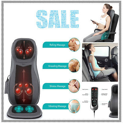 Naipo Shiatsu Neck and Full Back Massage Seat Cushion Body Chair with Heat
