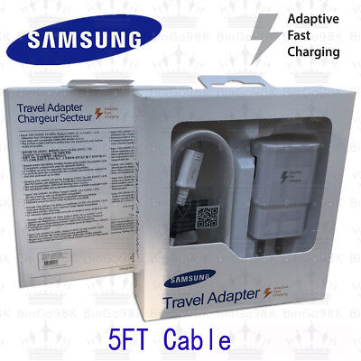 New OEM Original Samsung Galaxy S6 S7 Note 5 4 Fast Charging Wall Charger Set