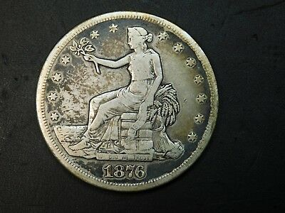 1876-S Trade Silver Dollar from an old coin collection