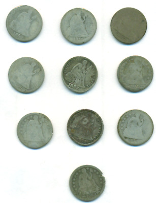 10 Seated Dimes