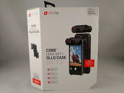 free shipping 68800 27a8a OLLOCLIP LENS SET and Case for iPhone 7 & 7+