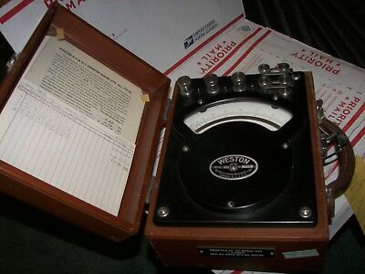 1952  Vintage  Weston  AC  &  DC  Portable  Ammeter   Model 370   Ser. # 9606