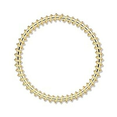 100 Gold Plated Steel Wire Wrapped 30mm Round Components *