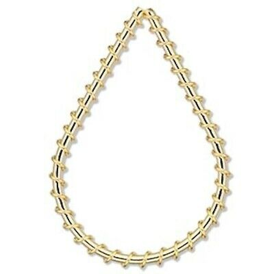 100 Gold Plated Steel Wire Wrapped 45x30mm Teardrop Components *