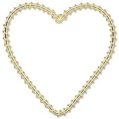 100 Gold Plated Steel Wire Wrapped 50x50mm Heart Components *