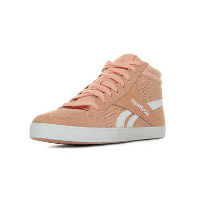 a076d96b15cc3 Chaussures Baskets Reebok femme Royal Aspire Suede taille Rose Cuir Lacets