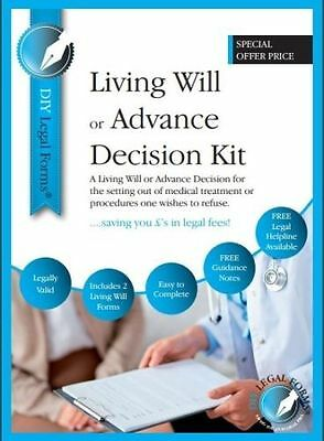 Living Will / Advance Decision Kit. Latest Edition. Special Offer Price.