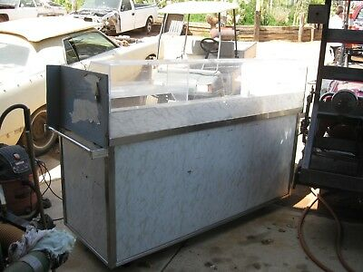 Stainless Steel Portable SALAD BAR, Buffet Food Service Station on Wheels