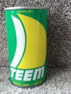 Teem straight steel,pull top from Mexico. Does not show ounces, just 335 ml