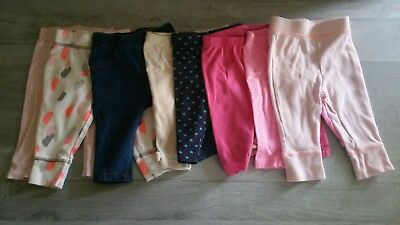 Lot of 8  Pants Baby Girl Clothes Size 3-6 Months