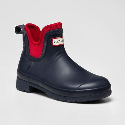 Hunter for Target waterproof ankle boot navy/red