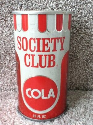 Society Club Cola(1970) straight steel, pull top. New York,N.Y.
