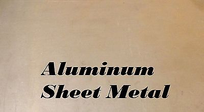 "4 Pieces of 6"" x 9"" Aluminum Sheet Metal .040"" (18 Gauge) Art/Crafts/jewelry"
