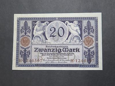 Germany Reichsbanknote 1915 20 Mark World Banknote Currency Collection Lot P-63