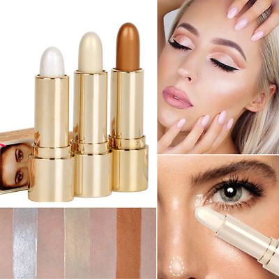 Silky Makeup Cream Face Eye Foundation Concealer Highlight Contour Pen Stick