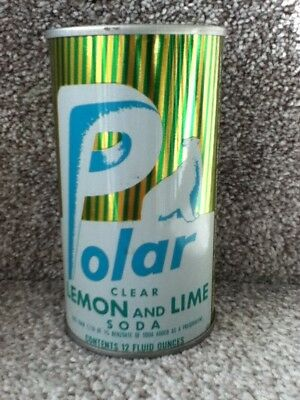 Polar Lemon and Lime(1971) straight steel,pull top.No bar code or ml listed.