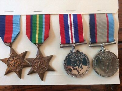 WWII Pacific Star group of 4 to an RAAF NAVIGATOR