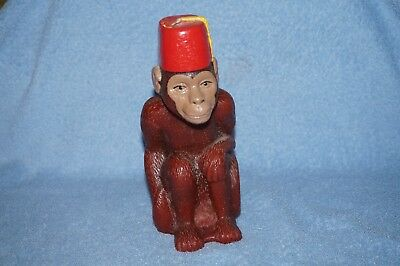 """Monkey in Red Fez"" Candle – great shape from 1996"