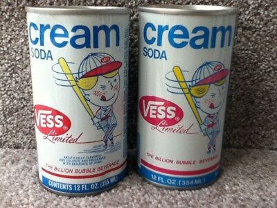 "VESS Cream with ""batter"".straight steel,pull top. Notice 12 oz label difference"