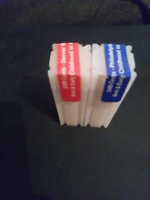 2009 P & D unopened cent rolls (UNC) Birth & early childhood reverse