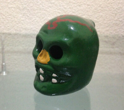 Green Aztec Whistle Skull Cry of Llorona - Ghost Handmade item See Video, Read