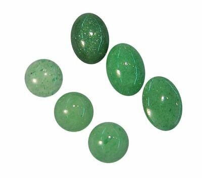 Natural Extra Fine Green Aventurine - Round & Oval Cabochon - Tanzania - AAA+ Gr