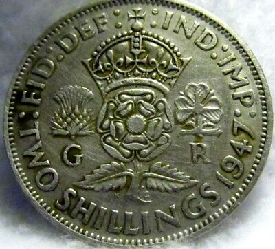 1947 Great Britain Florin (Two Shillings) in VF Shape ~ KM# 865