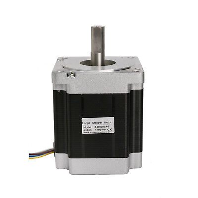 DE Ship!1PC Stepper Motor Nema34 1.8°1100oz-in 4.0A 3.2V 98mmLength Single Shaft