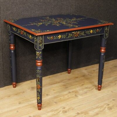 Table painting furniture dutch wooden blossom small table living room