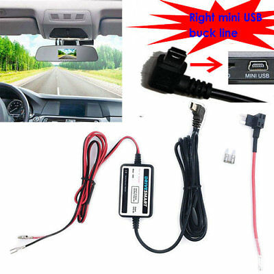 Right Mini USB DC Car Charger Hard wire Kit for In Car Dash Cam Camcorder DVR F2