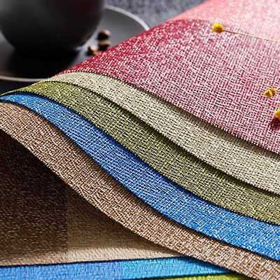 Dining Table Place Mats PVC Non-slip Heat Insulation Pad Weave Placemats  PVC