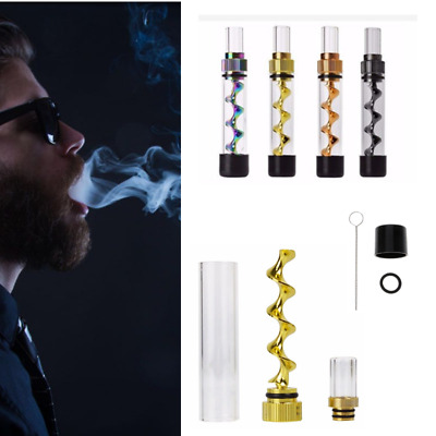Newly Designed V12 Mini Smoking Twisty Glass Tube Blunt Kit Various Color