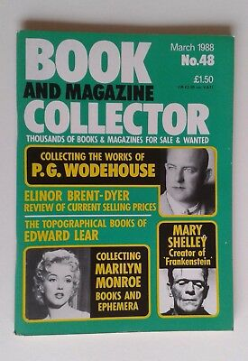 Book and Magazine Collector March 1998 No.48 Marilyn Monroe / P.G Wodehouse