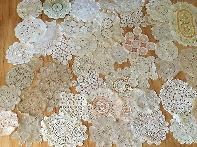 45 Crocheted doilies