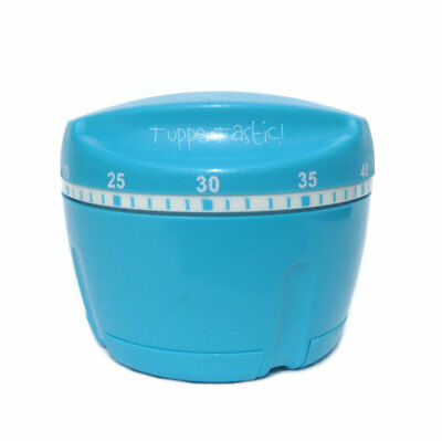 Tupperware NEW Kitchen Timer to 1 hour  Auto Chef Shape  Baking Roasting Blue