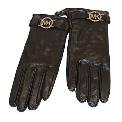 Michael Kors Glove w/ MK Logo Brown or Black with Tags 100% Authentic
