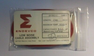 New Endevco 3090C Low Noise Cable Assembly 120 Inch 320 Pf Capacitance