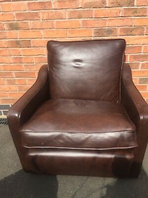 Original Vintage John Brabbs 1960's Chair reupholstered in leather renovation