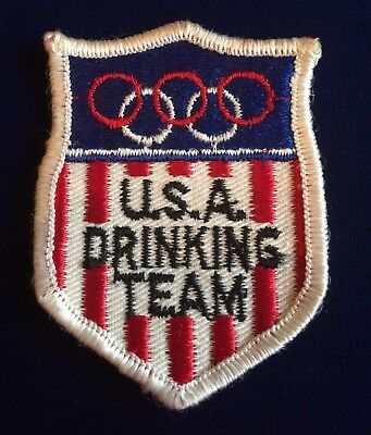 Vintage Humor USA Olympic Drinking Team Emblem Patch